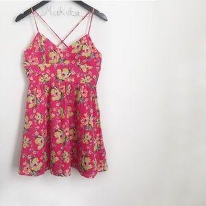 🛍•Kimchi Blue• Corset Back Floral Dress